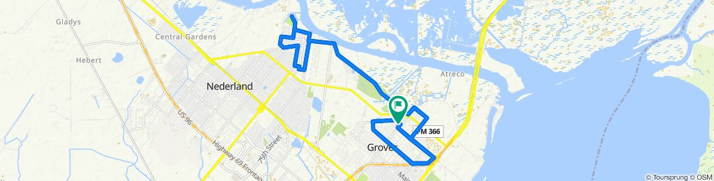 Sporty route in Groves