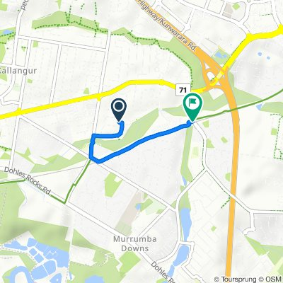 Sporty route in Murrumba Downs