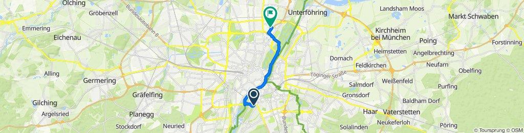 Entspannende Route in München