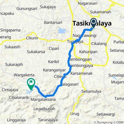 Jalan Tentara Pelajar 63, Kecamatan Tawang to Situ Sanghiang, Tanjungjaya