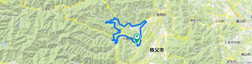 100 小鹿野歌舞伎・龍勢を回るルート