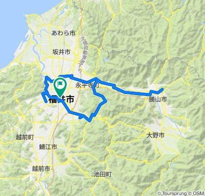 ふくいのサイクリングルートマップ(勝山恐竜博物館ルート)