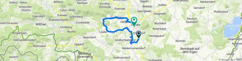 Route to Neue Sorge 21, Löbau