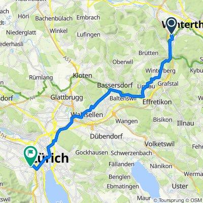 Reutgasse 6, Winterthur to Schrennengasse 7, Zürich