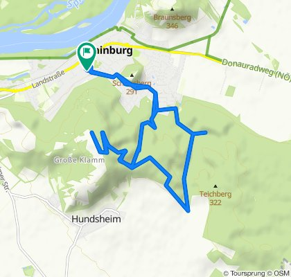 Restful route in Hainburg an der Donau