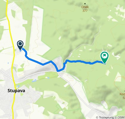 Route from Pastierska, Stupava