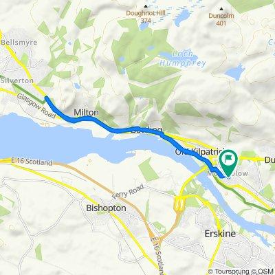 16 Harris Road, Glasgow to 2 Skye Crescent, Glasgow