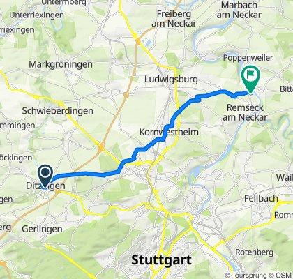 Einfache Fahrt in Remseck am Neckar