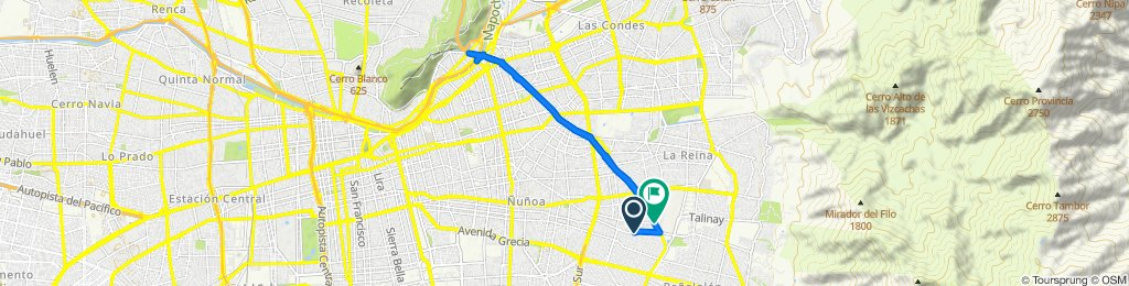 Ruta moderada en Peñalolén