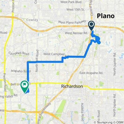 Sporty route in Dallas