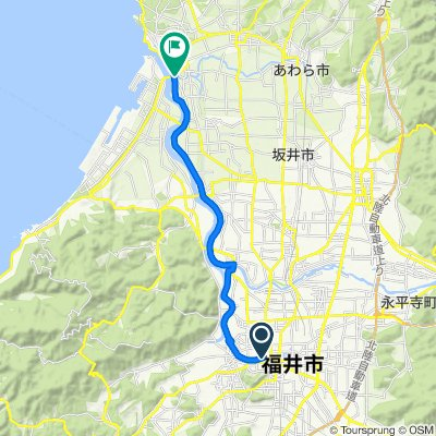 ドラゴンリバーライド2019 コース(足羽川・日野川・九頭竜川サイクリングルート)