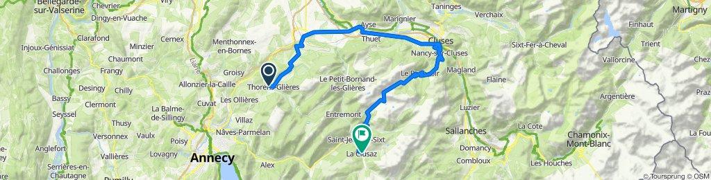 D11  Thorens-Glières to La Clusaz