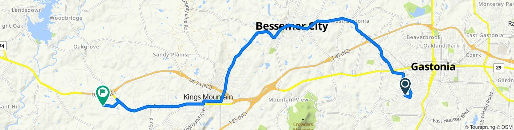 1812 Westbrook Cir, Gastonia to 219 Commerce Blvd, Kings Mountain