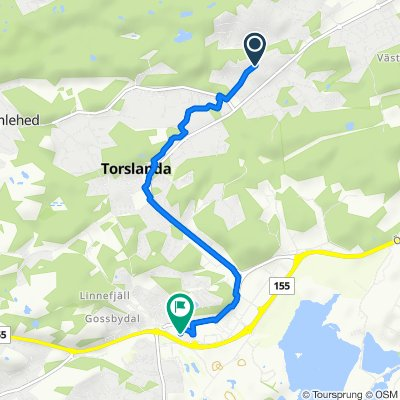 Gamla Torslandavägen 13B, Torslanda to Flygfältsgatan 50–58, Torslanda