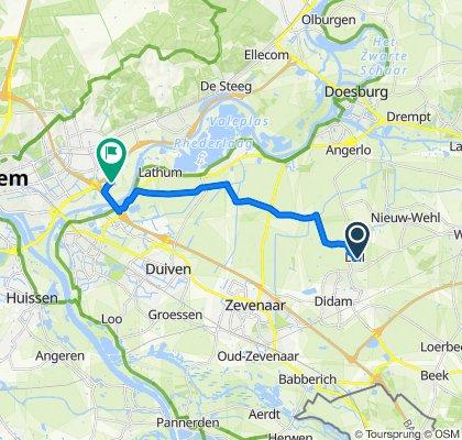 Sportieve route in Velp