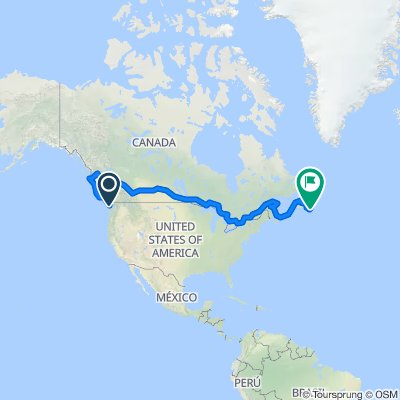 1010003 Mainline 3 - Victoria, BC to Cape Spear, NL 9,919km (9,178.5km cycling and 741.3km ferries)