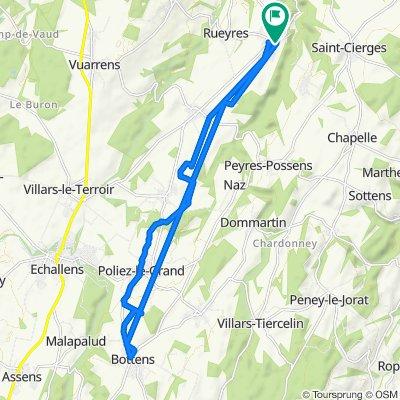 De Chemin du Clos-Brélion 10, Bercher à Chemin du Clos-Brélion 10, Bercher