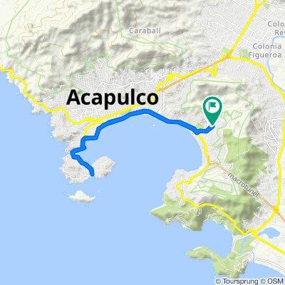 Calle Hilario Rodríguez Malpica, Acapulco to Calle Hilario Rodríguez Malpica 47, Acapulco