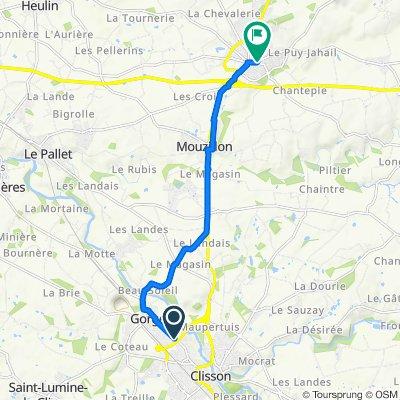 43 Route de Clisson, Gorges to 1 Place Charles de Gaulle, Vallet