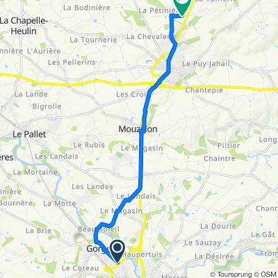 43 Route de Clisson, Gorges to 8 Rue de l'Industrie, Vallet
