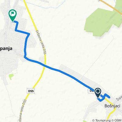 Route to Vinkovačka ulica 54, Županja