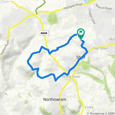 Route around Shelf + Northowram