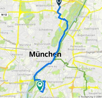 Langsame Fahrt in München