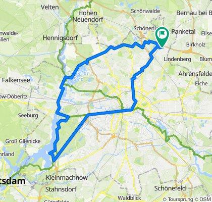 Barnimer Dörferweg, Tegel, Grunewald, Sightseeing