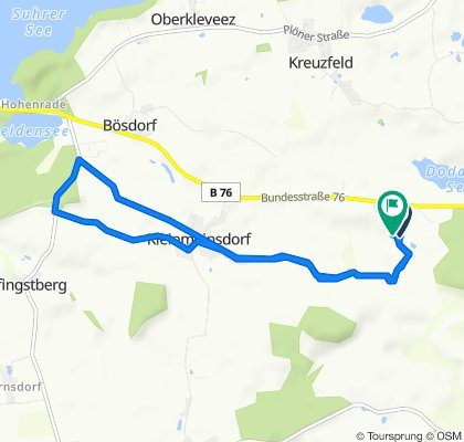 Einfache Fahrt in Bösdorf