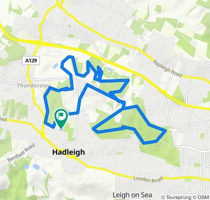 Falbro Crescent 37, Hadleigh to Falbro Crescent 37, Hadleigh