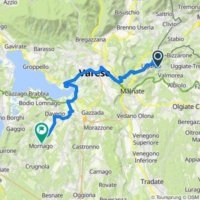 Da Via Italo Buzzi 9, Rodero a Via Italia 22, Mornago