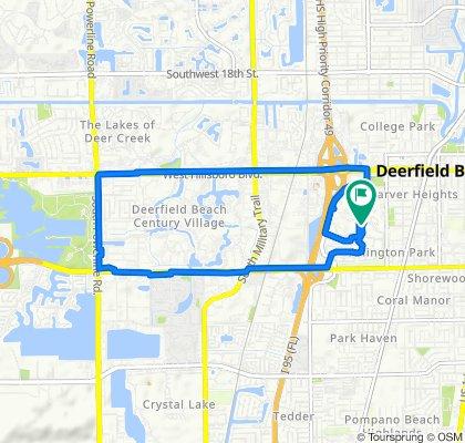 Moderate route in Deerfield Beach