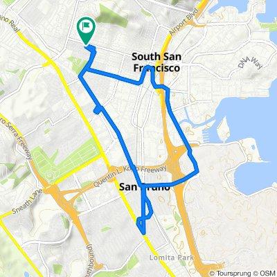 750 Third Ln, South San Francisco to 745 Grand Ave, South San Francisco