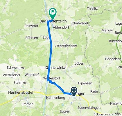 Mühlenstraße 6, Wittingen to Neustädter Straße 7, Bad Bodenteich