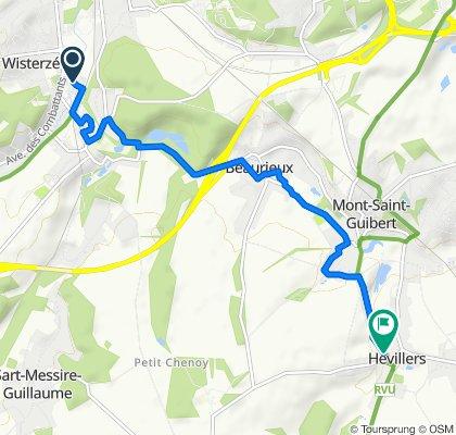 Via Fregona, Court-Saint-Etienne to Rue du Culot 1, Mont-Saint-Guibert