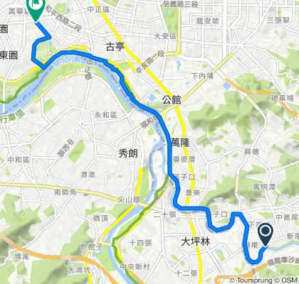 Route to 西藏路115巷3弄6號, 萬華區