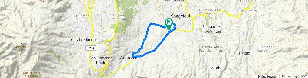 Ruta moderada en Rumiñahui