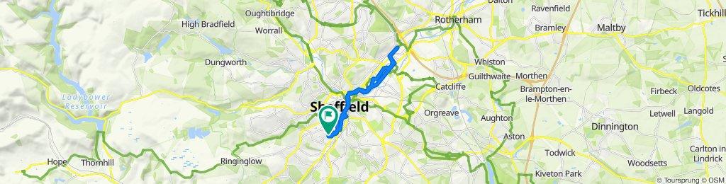 Meadowhall round trip via Cobweb Bridge