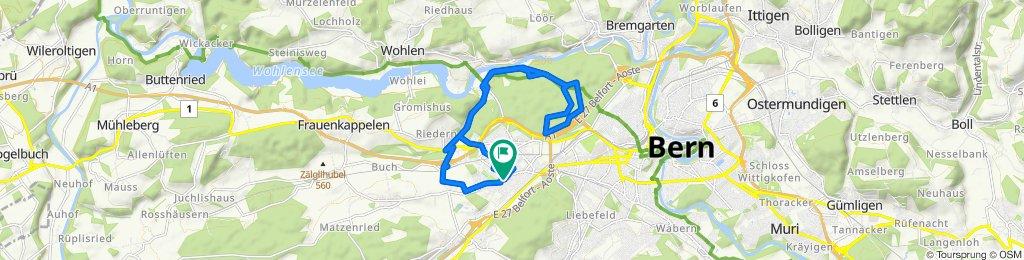 Gerade Fahrt in Bern