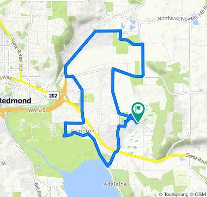 19308 NE 64th Way, Redmond to 19307 NE 64th Way, Redmond