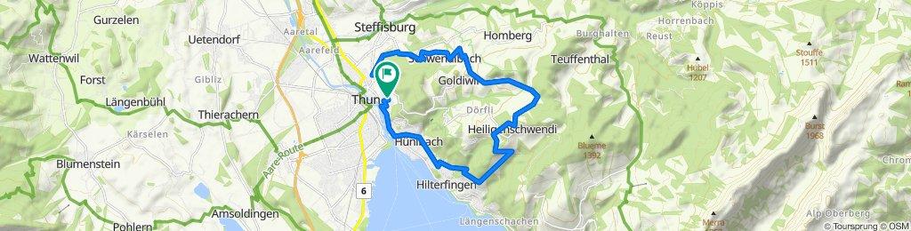 Langsame Fahrt in Thun