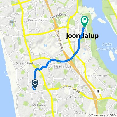 Route from 3 Trapeze Court, Ocean Reef