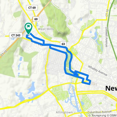 Moderate route in New Haven