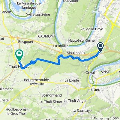 De Rue Jean Prévost 4, Grand-Couronne à Rue de la Louveterie 115, Bosc-Bénard-Commin