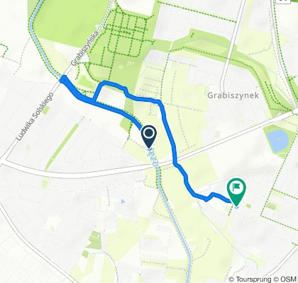 Route to Wietrzna 46c, Wrocław