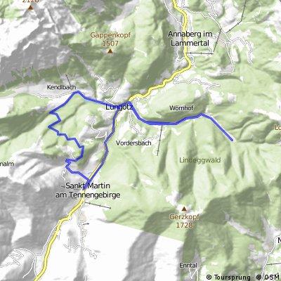 Ze St.Martin do údolí Neubachtal,přes Lammertal zpět