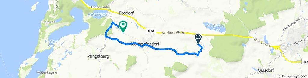 Entspannende Route in Bösdorf