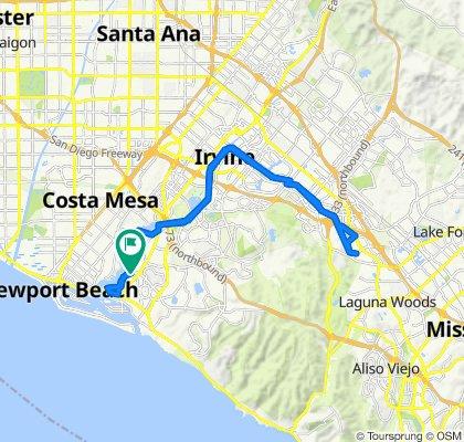 San Joaquin Hills Rd, Newport Beach to San Joaquin Hills Rd, Newport Beach