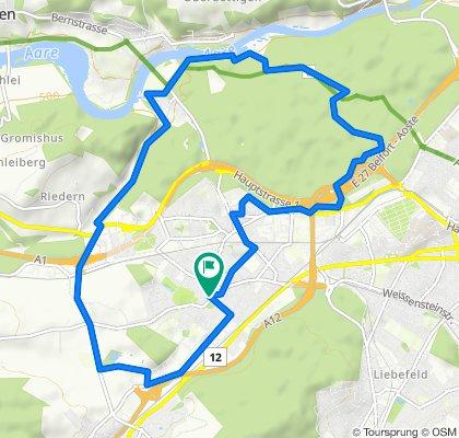 Gemütliche Route in Bern