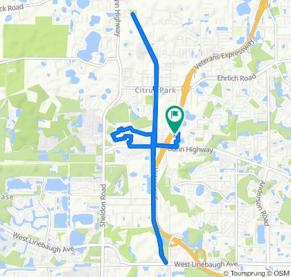 Moderate route in Tampa